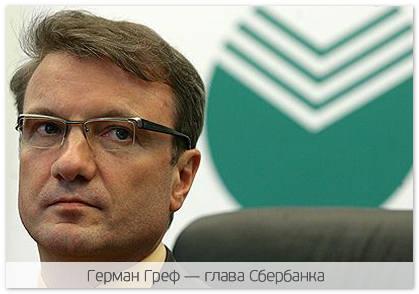 Глава Сбербанка России против давления на рубль