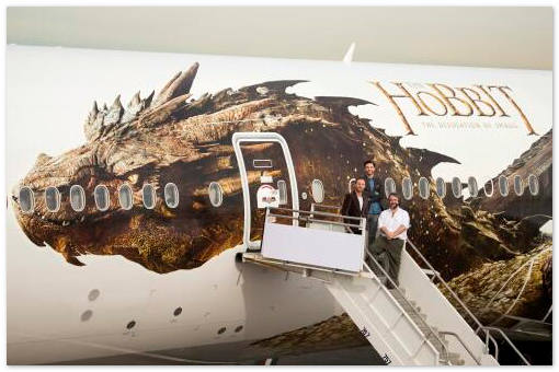 Дракон Смауг «поселился» на борту авиакомпании Air New Zealand