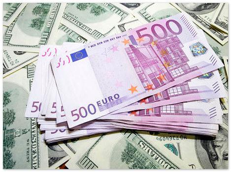Евро оптимистично добрался до отметки в 1,35 доллара.