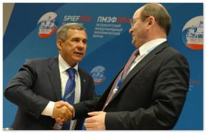 Р.Минниханов в рамках Петербургского форума рассказал об энергоэффективном опыте РТ