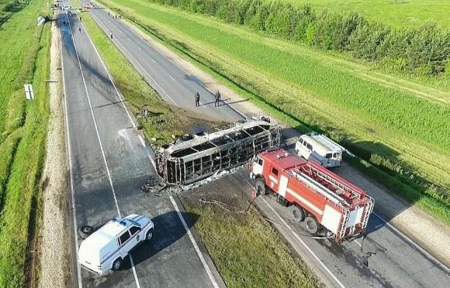 В ДТП с автобусом, следующим из Самары в Ижевск, погибло 14 человек