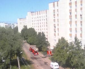 в Ульяновске загорелся техэтаж жилого дома