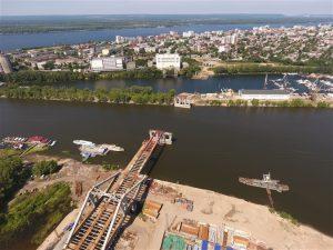 В Самаре завершился очередной этап строительства Фрунзенского моста