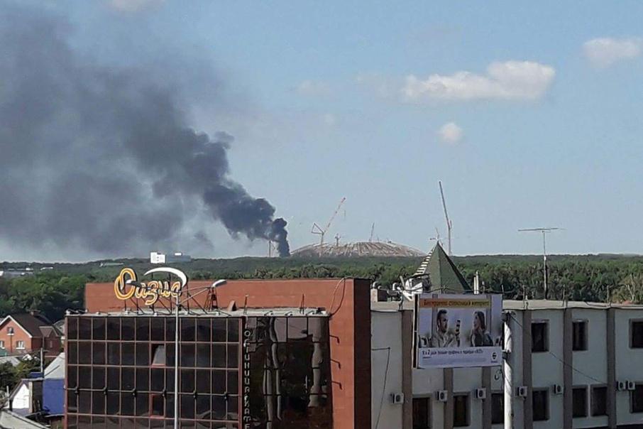 В Самаре произошёл пожар на стройке стадиона к ЧМ-2018