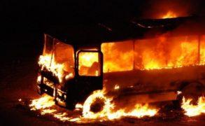 Около автовокзала Набережных Челнов загорелся автобус