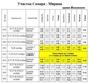 С 16 октября в Самаре изменится расписание электричек