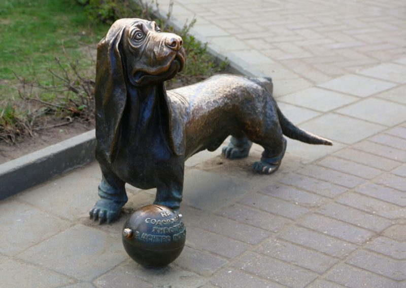 Самую известную костромскую собаку решили скопировать в столице алмазов