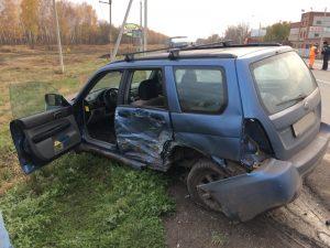 На дороге «Москва — Челябинск» в Самарской области «Subaru» столкнулся с «Ладой»