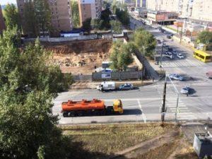 В Тольятти во время стройки офисного здания обнаружили снаряд