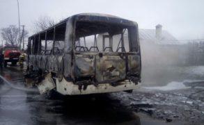 В Алексеевском районе на трассе сгорел автобус «ПАЗ»