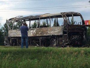 Уничтожена запись с видеорегистратора автобуса, попавшего в ДТП под Заинском