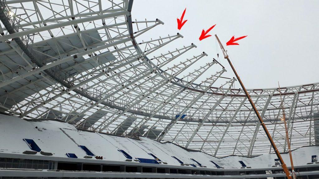 В строительстве стадиона «Самара-Арена» наметилось опережение графиков. На два дня